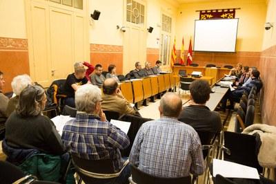 La Comissió Municipal d'Energia s'ha reunit aquest dimecres a la Sala de Plens del consistori (foto: Localpres).