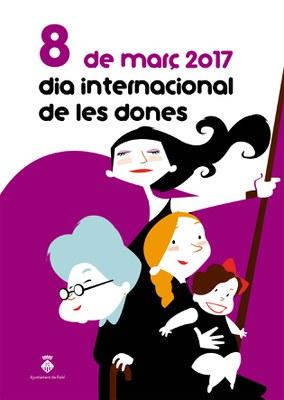 Cartell del programa d'activitats amb motiu del 8 de març.