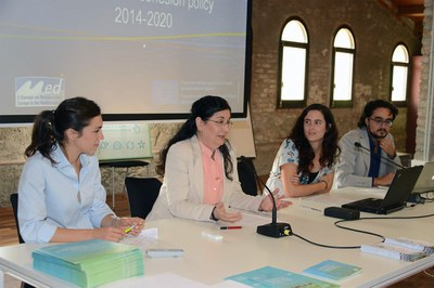 L'alcaldessa, a la presentació del Workshop Transnacional (foto: Localpres).