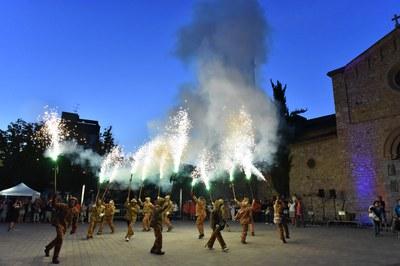 El foc ha estat un dels grans protagonistes de la festa (foto: Localpres).