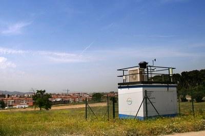 Cabina de vigilància i control de la qualitat de l'aire de Ca n'Oriol (foto: Ramon Vilalta).