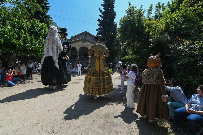 Els gegants i gegantons han ballat a l'esplanada de l'ermita de Sant Muç (foto: Ajuntament - Localpres)