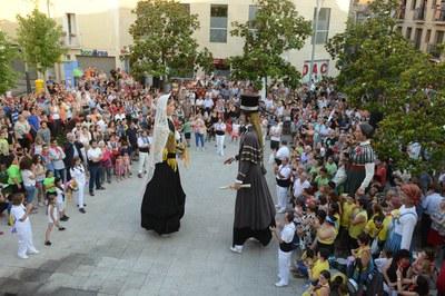 Una de les novetats del pregó d'aquest any serà l'estrena dels vestits dels gegants Roc i Paula(foto: Localpres).