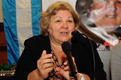 Aleida Guevara, durant la seva conferència (foto: Localpres)