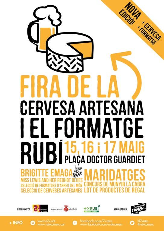 Cartell de la 2a Fira de la cervesa artesana i el formatge