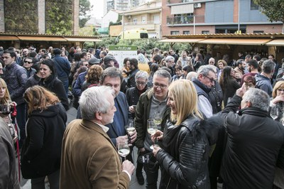 La Fira del Vi omple cada any els voltants de El Celler (foto: Lali Puig).