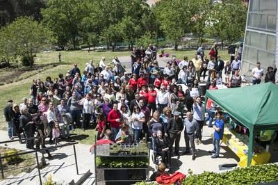 Les persones treballadores i usuàries de la Font del Ferro han estat les protagonistes de la jornada (foto: Ajuntament de Rubí – Lali Puig).