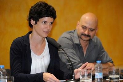 Vanessa Püntener amb Carles Mercader (foto: Localpres)