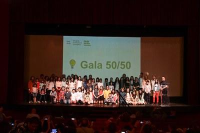 L'any passat els centres van presentar els resultats del seu estalvi en una gala a La Sala  (foto. Ajuntament de Rubí – Localpres).