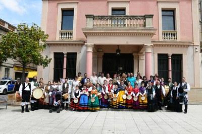 Les autoritats municipals van rebre la Irmandade en una recepció (foto: Localpres).