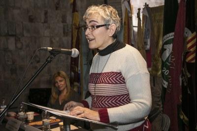 Enguany, el pregó l'ha llegit Montserrat Comellas (foto: Ajuntament ─ Lali Puig)