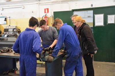 Aquest dimarts, entre d'altres, Martínez s'ha reunit amb la direcció de l'Institut J.V. Foix i ha visitat les instal·lacions del centre educatiu.