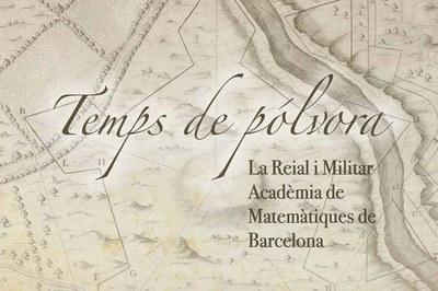 """Detall del cartell de l'exposició """"Temps de pólvora""""."""