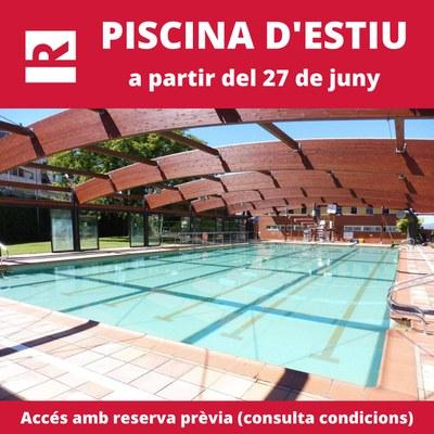La piscina de Can Rosés obre amb totes les mesures de seguretat (Foto: CNR).