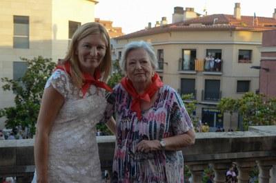 L'alcaldessa amb la pregonera (foto: Localpres)
