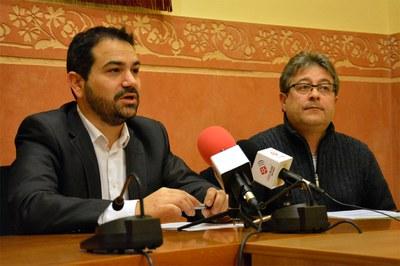 El regidor Jaume Buscallà i el president de la FACGR, Miquel Ortuño