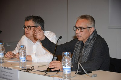 Joan Sendra durant la seva intervenció (Foto: Localpres).