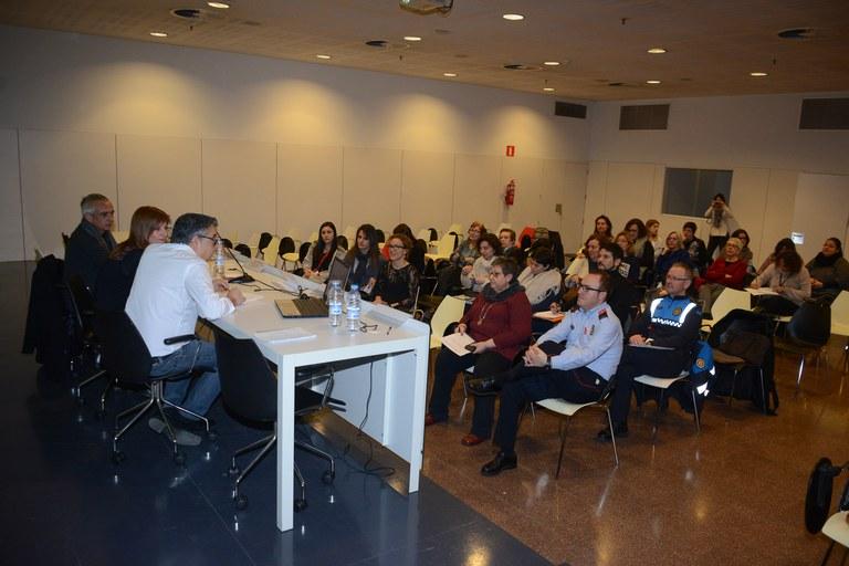 L'acte ha tingut lloc a la biblioteca Mestre Martí Tauler (Foto: Localpres)
