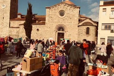 La plaça del Doctor Guardiet ha acollit bona part de les activitats incloses a 'La gran acció'.
