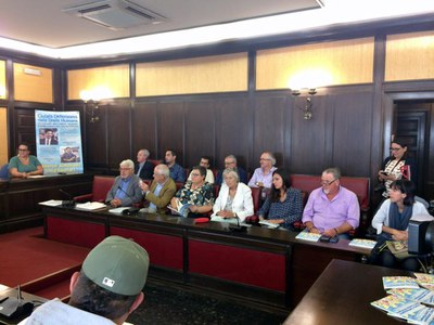 Moment de la trobada / Foto: Fórum de síndics i defensors locals - ForumSD.