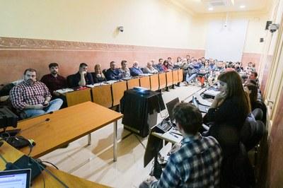 Representants polítics, tècnics i veïnals s'han donat cita a l'Ajuntament (foto: Ajuntament de Rubí – Localpres).