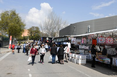 El Mercadal és al carrer Antoni Sedó  (foto: Ajuntament de Rubí – Localpres).