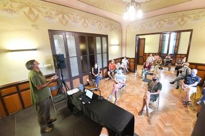 Els actes s'han iniciat amb una conferència sobre la cultura en temps de Covid-19 (foto: Ajuntament de Rubí – Localpres).