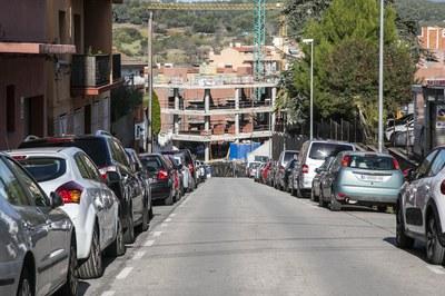 El tram del carrer de Sant Jordi on s'actuarà (foto: Ajuntament de Rubí – Lali Puig).