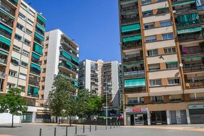 Neus Català va residir en aquesta plaça durant més de vint anys (foto: Ajuntament de Rubí - Localpres).