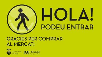 L'Ajuntament automatitza el control d'aforament del Mercat Municipal.