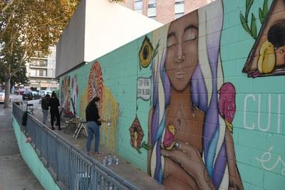 Un dels murals pintats durant la darrera edició del Full Colors (foto: Ajuntament de Rubí - Localpres).