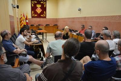 La junta de portaveus s'ha trobat amb els representants de la plantilla d'Ipagsa.