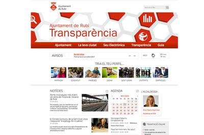Un dels aspectes que es valoren per atorgar el 100% dels indicadors de transparència són els continguts del web municipal .