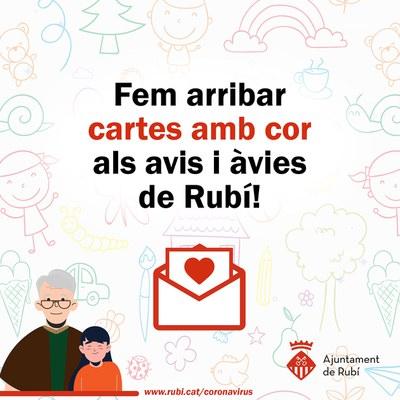 Els dibuixos i cartes s'han de fer arribar a l'adreça color@ajrubi.cat.