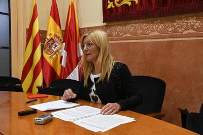 L'alcaldessa ho ha explicat a la sala de plens (foto: Ajuntament de Rubí – Locapres).