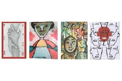 Algunes de les obres guanyadores del Premi Xarxart.