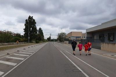 Al maig, ja es va tancar temporalment un tram de l'avinguda de la Llana (foto: Ajuntament de Rubí – Localpres).