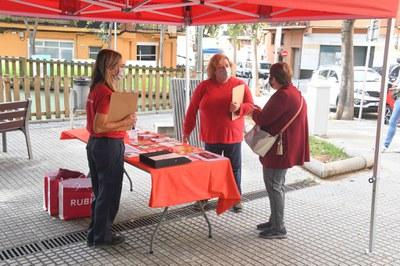 La carpa de les agents (Foto: Ajuntament/ Localpres).