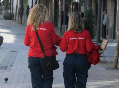 Les agents pel civisme actuen a tot el municipi (Foto: Ajuntament/Localpres).