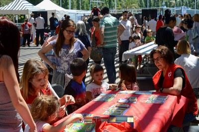 Un dels tallers organitzats per la Creu Roja (foto: Localpres).
