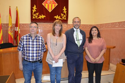 D'esquerra a dreta: Eduardo Asensio, Marta García, Lluís Carreras i Sonia Revolorio.