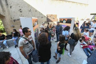 La mostra està ubicada al pati del Castell (foto: Ajuntament - Localpres).