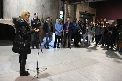 Imatge dels parlaments durant la inauguració de l'exposició (foto: Localpres)