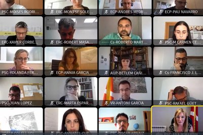 El Ple s'ha celebrat de forma telemàtica (foto: Ajuntament de Rubí).