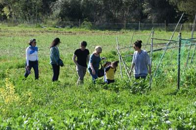 Els rubinencs s'han convertit en pagesos per un dia gràcies a l'activitat 'Ecobòdum: hort en família' (foto: Localpres)
