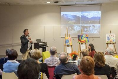 Francisco Rueda i Montse Clemente, durant la presentació del seu llibre (foto: Cesar Font).