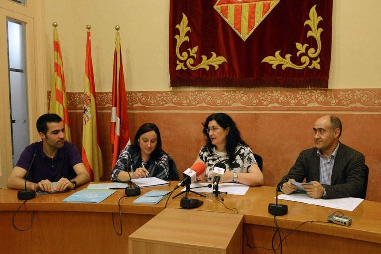 Roda de premsa de presentació del congrés (foto: Localpres)