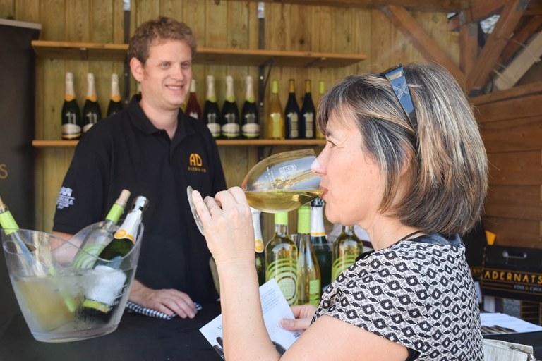 A la fira s'han pogut tastar els millors vins de Catalunya (foto: Localpres)