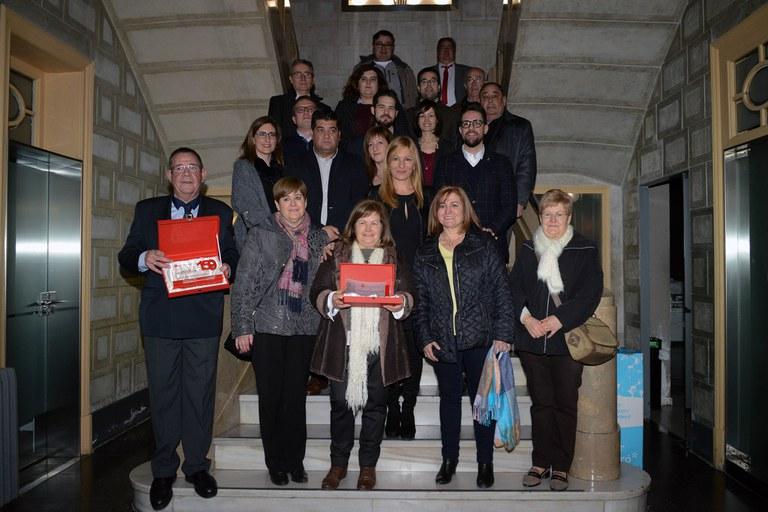 Recepció a l'Ajuntament (foto: Localpres)