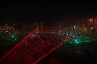 Els Reis han arribat precedits d'un espectacle de llums (foto: Localpres)